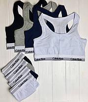 Женский комплект Calvin Klein: стринги и топ 4 цвета реплика, фото 3
