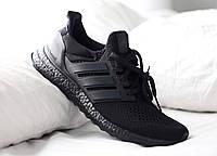 Кросівки Adidas Ultra Boost Triple Black, фото 1