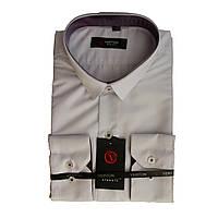 Рубашка для мальчика подростковая приталенная белая длинный рукав Verton