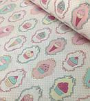 """Плед детский с полосатым плюшем Minki  """"Пирожные"""" Нежно-Розового цвета, фото 5"""