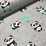 """Плед детский с плюшем Minki в пупырышках """"Панда"""" Серого цвета, фото 4"""