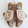 Кофейный мишка в кожушке. Украинский сувенир.