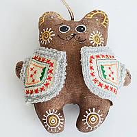 Кофейный мишка в кожушке. Украинский сувенир., фото 1