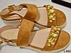 Босоножки женские замш на платформе с камнями фирмыVICES, женская обувь