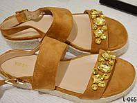 Босоножки женские замш на платформе с камнями фирмыVICES, женская обувь, фото 1
