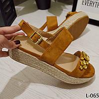 Босоножки женские на платформе замш отличного качества , женская летняя обувь, фото 1
