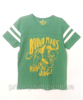 Мужская зеленая футболка с принтом, р. L