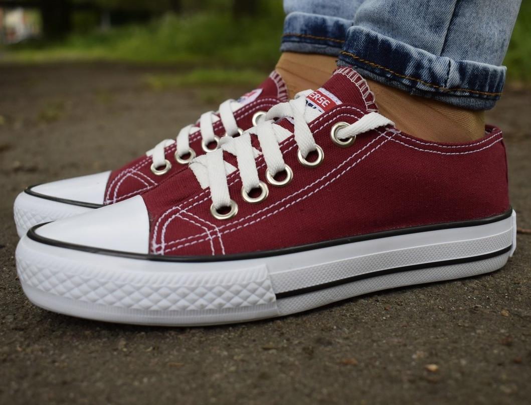 a1eae1de32d6 Бордові кеди Converse - Одежда и обувь лучшие тренды года Моя Мода ✓ в  Львовской области