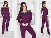 Спортивный костюм женский с лампасами (3 цвета) Марсала ММ/-4171