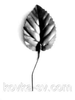 Кованый лист розы 70х45х1,2 с хвостиком