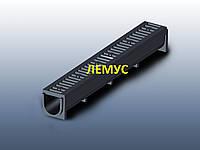 Комплект: Лоток полимерпесчаный H130 с полимерпесчаной решеткой А15
