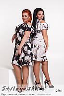 Летнее платье для полных Крокус черное, фото 1