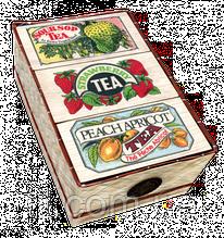 3 FLAVOUR MAT BASKET Три вида ароматизированного черного чая 150гр