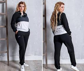 Женские спортивный костюм с логотипом Nike, материал - трикотаж-двунить