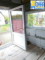 Металлопластиковые двери Бортничи, фото 1