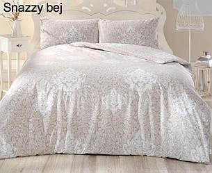 Полуторное постельное белье Altinbasak Snazzy Bej Ранфорс