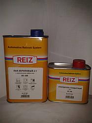 Лак 2К HS REIZ c дзеркальним ефектом 1л +0,5 л отверд. (комплект)
