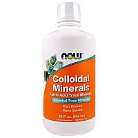 Коллоидные Минералы, Colloidal Minerals, Now Foods, 946 мл