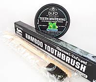 Порошок Carbon Coconut + Зубная щетка из бамбука
