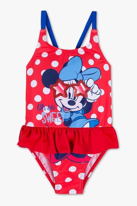 Слитный детский купальник с рюшами для девочки C&A Германия Размер 98-104