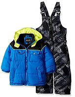 Зимний раздельный серо-синий с желтым комбинезон iXtreme(США) для мальчика 12мес