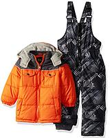 Зимний раздельный серо-оранжевый комбинезон iXtreme(США) для мальчика 12мес