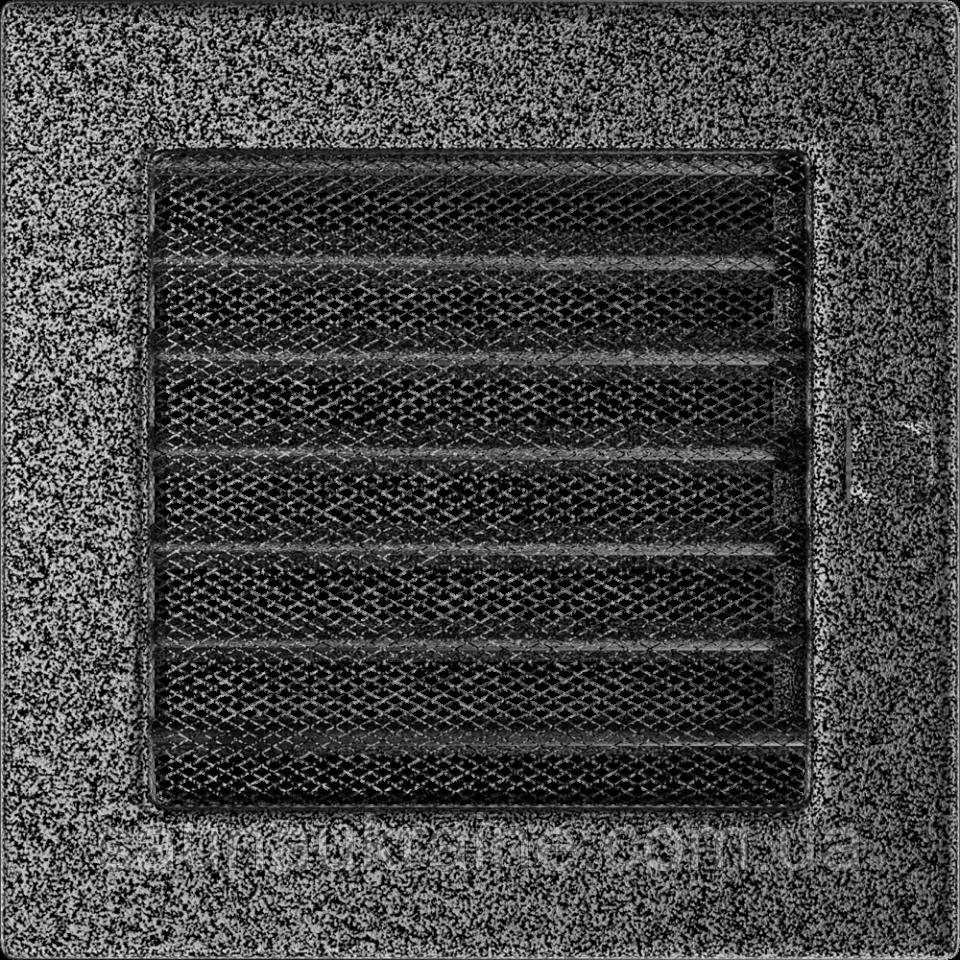 Решетка черно-серебряная 17*17 (крашеная) жалюзи