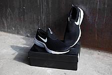 Мужские кроссовки Nike.Без шнуровки черно-белые,сетка,весна-лето