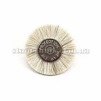 Щетка дисковая волосяная 22 мм (белая/мягкая) 12777
