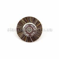 Щетка дисковая волосяная 19 мм (коричневая/жесткая) 12774