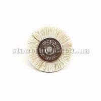 Щетка дисковая волосяная 19 мм (белая/мягкая) 12776