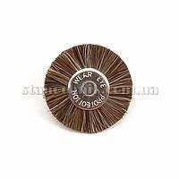 Щетка дисковая волосяная 22 мм (коричневая/жесткая) 12775