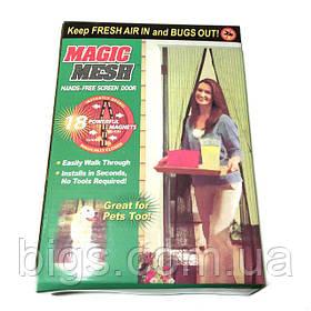 Антимоскитная сетка на магнитах 100*210 см ( москитные сетки на дверь )