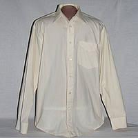 Рубашка мужская кремовая Bhs размер М,воротник 39-40 см, б/у