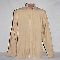 Рубашка мужская бежевая М,воротник 39-40 см, б/у