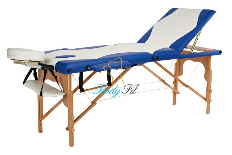 Массажный стол BodyFit, 3 сегментный,2-цветный,дервянный