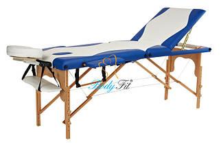 Массажный стол BodyFit, 3 сегментный,2-цветный,дервянный, фото 2