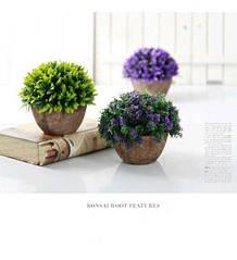 Декоративная модель растения Орхидеи бонсай фиолетовый
