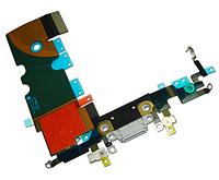 Шлейф для iPhone 8, с разъемом зарядки, с микрофоном, черный
