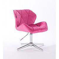 Кресло парикмахерское  HR 111  малиновый велюр, фото 1