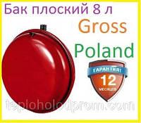 Расширительный бак плоский 8л Gross Польша