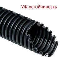 25мм - 50 метров УФ устойчивая гибкая гофрированная труба (гофра) МОНОФЛЕКС 1425D черная, фото 1