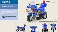 Детский мотоцикл Полиция M-026-B синий