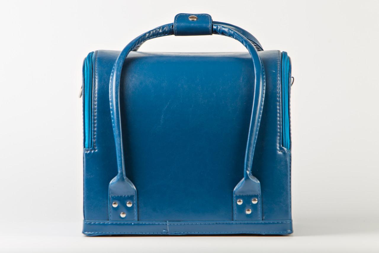 Кейс для косметики, синий матовый.