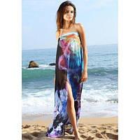 Нежное шифоновое пляжное платье парео