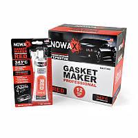 Красный силиконовый герметик прокладок NOWAX Gasket Maker Red