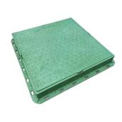 Люк полимерпесчаный легкий 400х450 с замком (А15) зеленый