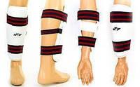Защита ног и рук тхэквондо (голень+предплечье) WTF BO-4382-W(S) (PU, р-р S, белый, набор 4 щитка)