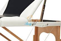Массажный стол BodyFit, 3 сегментный,2-цветный,дервянный Черный, фото 3