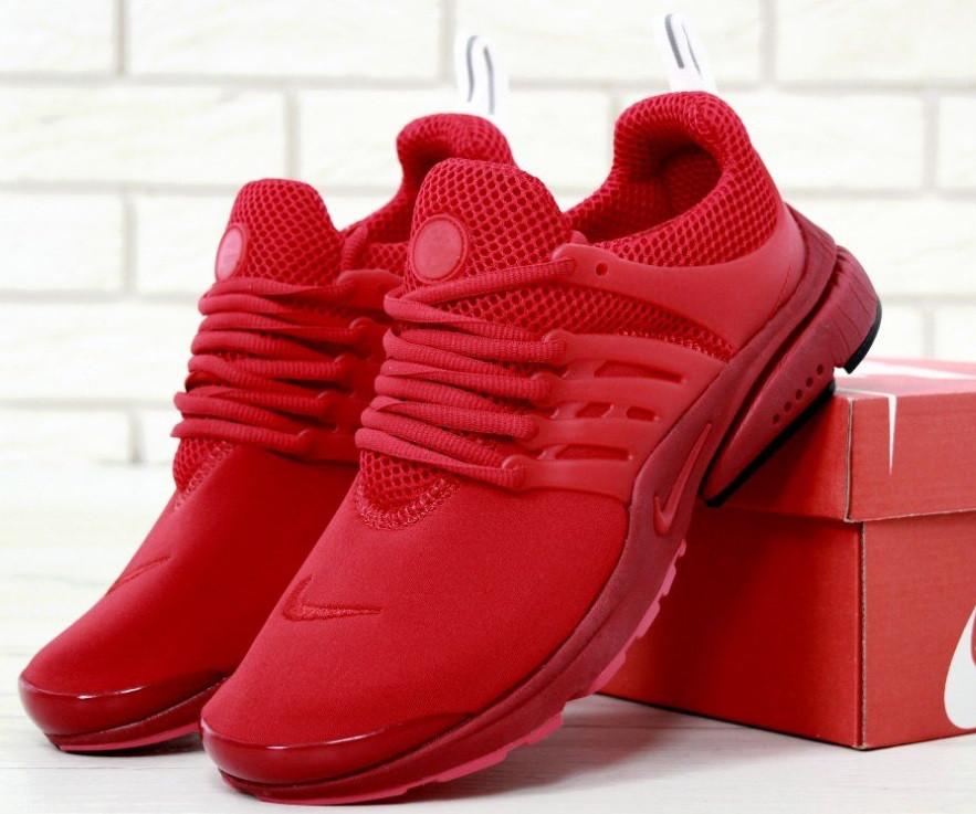 Кроссовки Nike Air Presto Red. Живое фото. Топ качество! (Реплика ААА+)